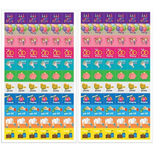 Calendar Planner Reminder Stickers : Planner activity stickers cute designs homework