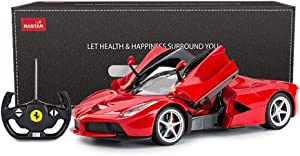 RASTAR RC Car | 1/14 Scale Ferrari LaFerrari Radio Remote Control R/C Toy Car Model Vehicle for Boys Kids, Red, 13.3 x 5.9 x 3.3 inch