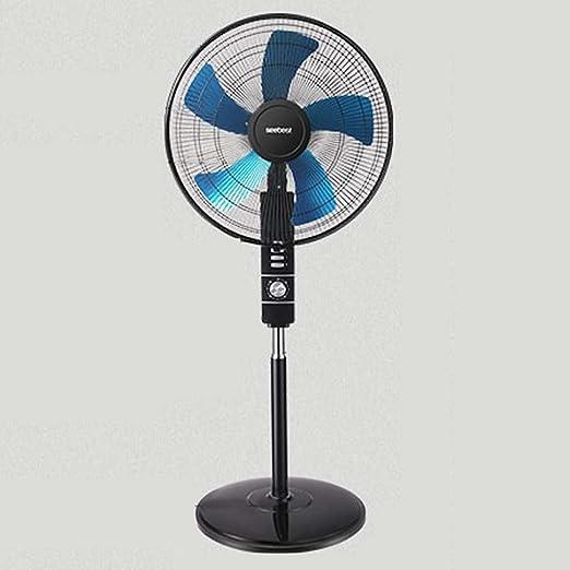 ventilador JCOCO Suelo silencioso Reloj de Cinco Hojas Volumen de Aire Dormitory DC Smart Home eléctrico Vertical Shaking Head Negro: Amazon.es: Hogar