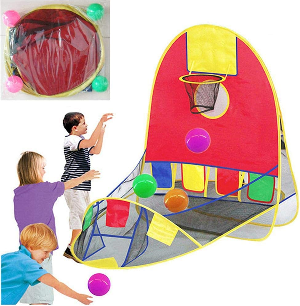 Portable Ball Shooting Tent Children's Tent Outdoor Indoor Shooting Tent Kid Foldable Pop Up Playing Tent Collapsible Play House Educational Toy House