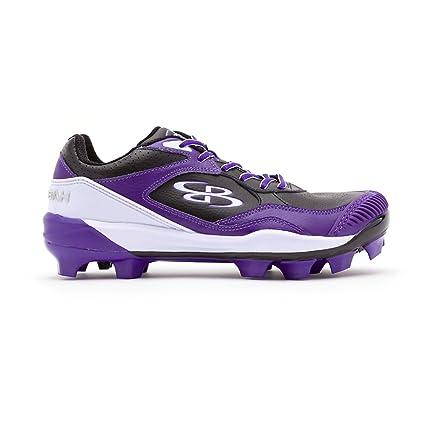 49c76ec42 Boombah Women s Endura Pitcher s Toe Molded Cleats Black Purple - Size 4.5
