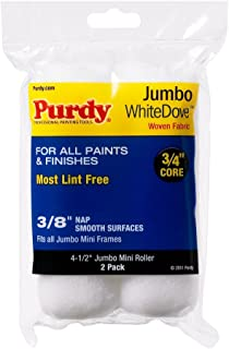 product image for Purdy 140624012 Jumbo Mini White Dove Roller Replacements, 2-Pack, 4-1/2 inch x 3/8 inch nap