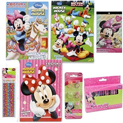 Disney Jr Minnie Mouse Bow Tique Friends Coloring Book Gift Set For Kids