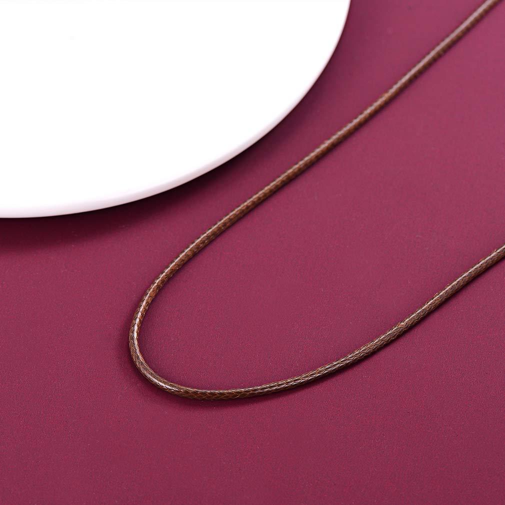"""Argent Sterling Noir Cordon cuir chaîne collier 24/"""""""