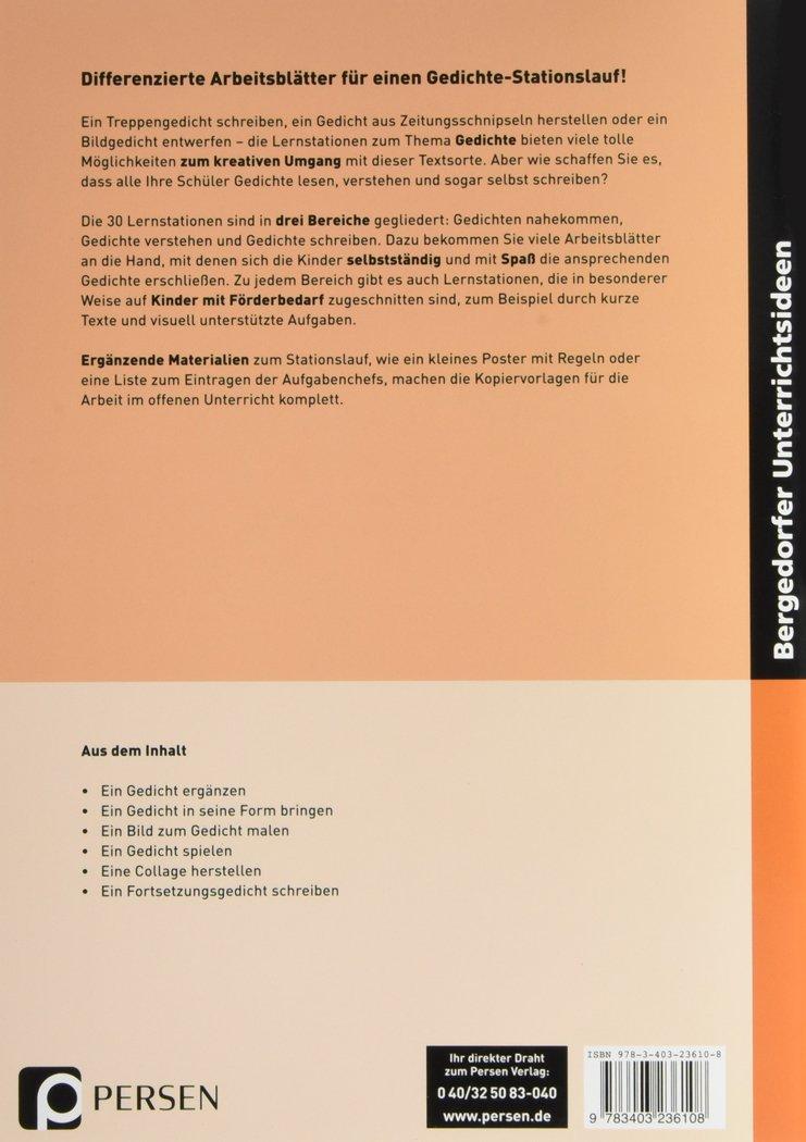 Gedichte - Lernstationen inklusiv: Differenzierte Materialien für ...