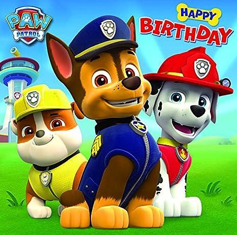 Paw Patrol   Biglietto di auguri di compleanno, pagina vuota