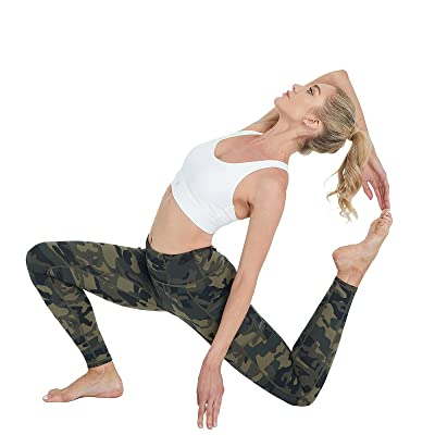 LABEYZON Womens High Waisted Yoga Pants Workout Running Leggings 25 Inche Length with Pockets