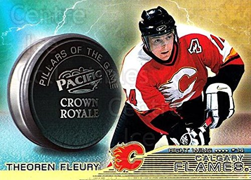 ((CI) Theo Fleury Hockey Card 1998-99 Crown Royale Pillars of the Game 4 Theo Fleury)