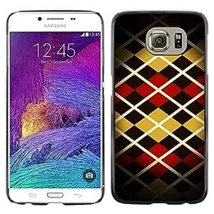 TopCaseStore / la caja del caucho duro de la cubierta de protección de la piel - Pattern Design Fashion Stripes Style Art - Samsung Galaxy S6 SM-G920