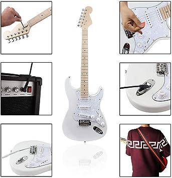 Ayqa Guitarra eléctrica genuina Serie St Guitarra eléctrica ...