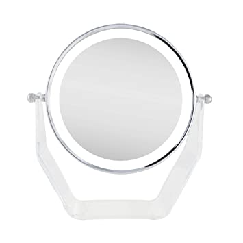 Zadro Lighted Makeup Mirror.Zadro Zvlvan38 Products Next Generation Two Sided Led Lighted Vanity Swivel Mirror In Acrylic Base With 1x And 8x Magnification Chrome