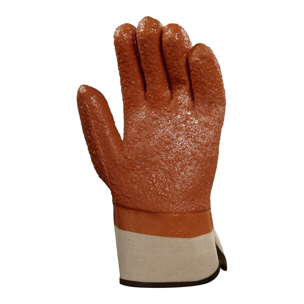 Ansell 23173 Winter Monkey Grip Vinyl-Coated, Foam-Insulated Gloves, 11'' Length, 5.5'' Width, 0.92'' Height, Size 10, Orange (Pack of 12) by Ansell (Image #3)