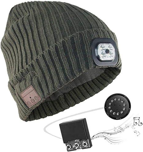 USB Torcia ricaricabile Cappello Beanie Camping /& Trekking 4 LED LUCE ANTERIORE TORCIA Cappelli
