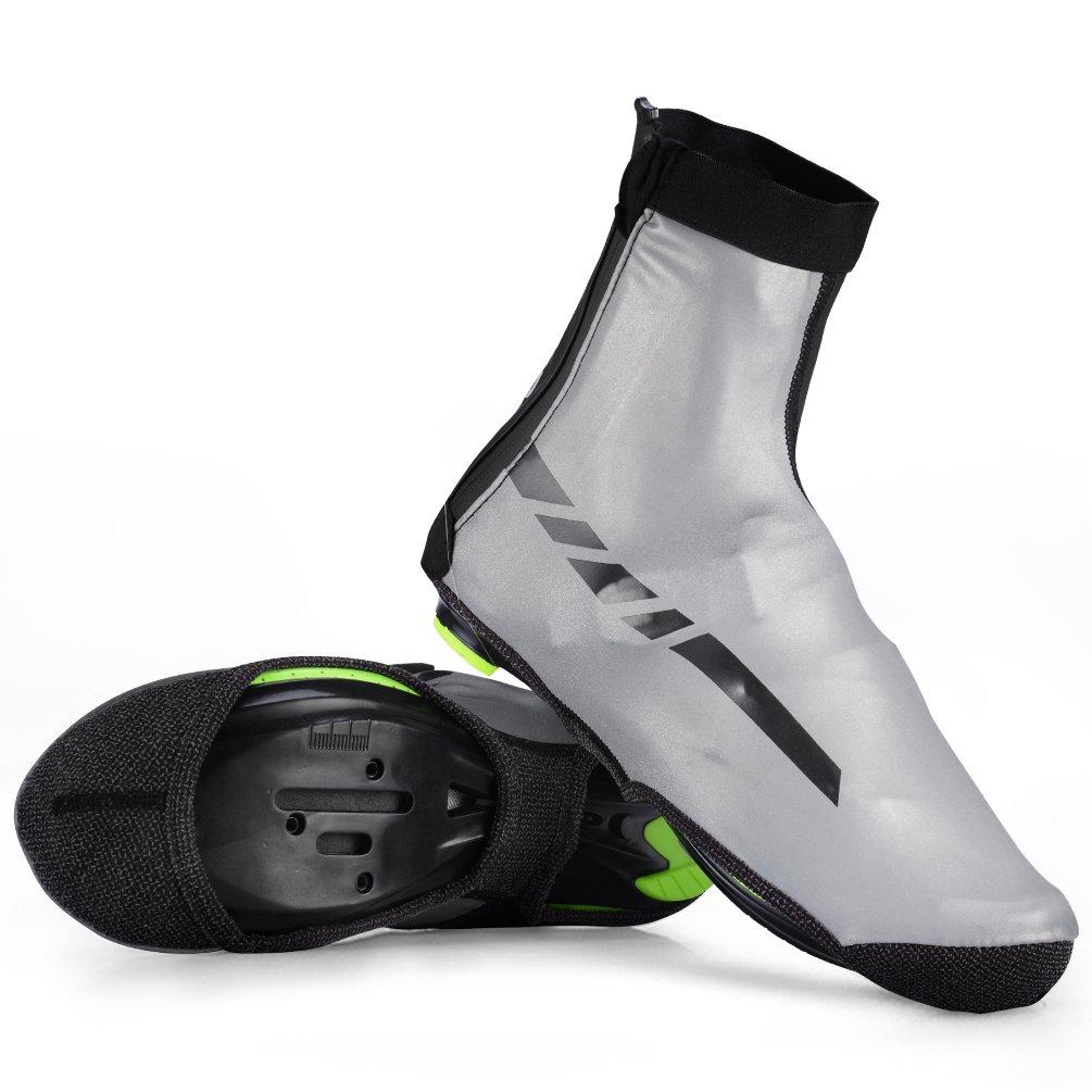 RockBros 防水IPX4サイクリング用オーバーシューズ 高反射熱靴カバー フリース L/XL (US Men Shoes Size 8M-10M) ブラック   B0757DPRP5