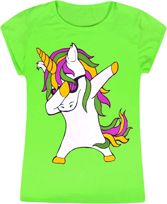 Girls yellow short sleeve crew neck rainbow t shirt top age 7-8 years new