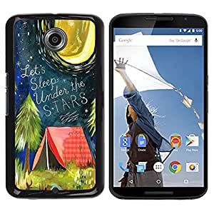"""Pulsar Snap-on Series Teléfono Carcasa Funda Case Caso para Motorola Google NEXUS 6 / XT1100 , Carpa Cita Bosque Luna de la noche"""""""