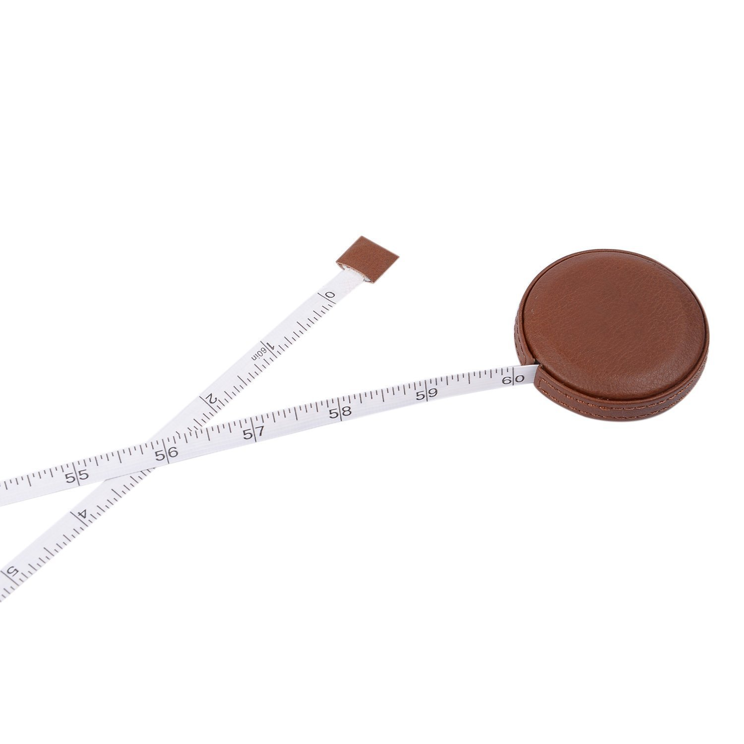 Deep Brown 2PCSLeather Tape Measure Retractable Small Measuring Tape for Cloth Body Sewing Tailor Ruler Waist Fit in a Pocket Inch//cm Double Sided Plastic Soft Tape Measure for Medical