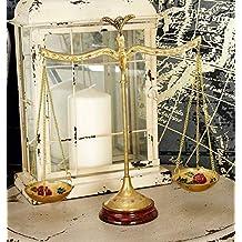 """Deco 79 30651 Brass Scale, 12""""W x 12""""H"""