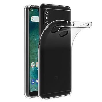 iVoler Funda Carcasa Gel Transparente para Xiaomi Mi A2 Lite/Xiaomi Redmi 6 Pro, Ultra Fina 0,33mm, Silicona TPU de Alta Resistencia y Flexibilidad