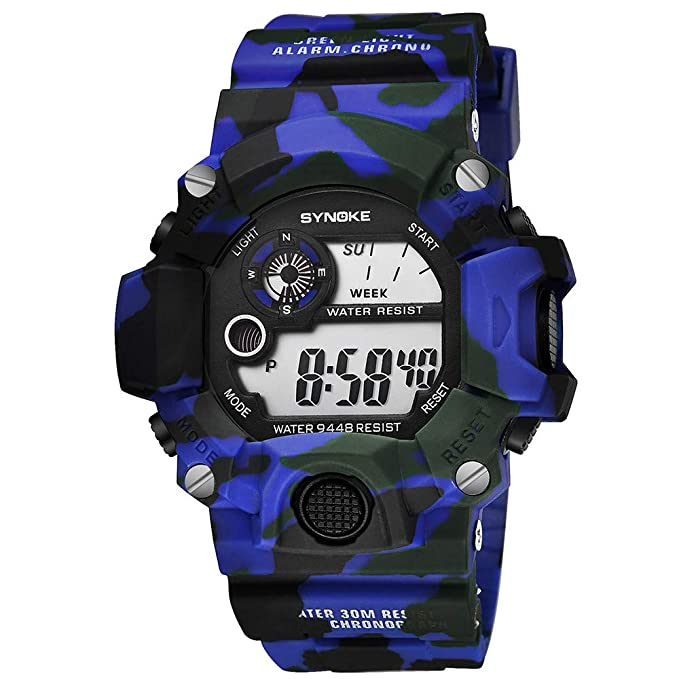 YpingLonk Casual Reloj al Aire Libre Impermeable Electrónico Luminoso Clásico y Vintage con Cadena Analógico-Digital para Regalo: Amazon.es: Ropa y ...