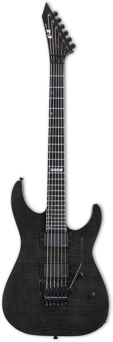 ESP E-II M-II - Guitarra eléctrica con funda, color negro: Amazon ...