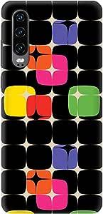 Stylizedd Huawei P30, Slim Snap Basic Case Cover Matte Finish - 70's Star
