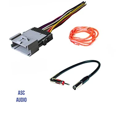 ASC Audio Car Stereo Wire Harness and Antenna Adapter for some Buick Chevrolet GMC Hummer Isuzu Oldsmobile Pontiac- 03-06 Silverado, Tahoe, Suburban, Sierra etc.- Please Read Important Info Below: Car Electronics