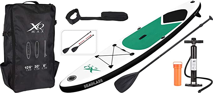XQMAX Sup Inflable Stand Up Paddle Board Set - Gris - 320cm ...