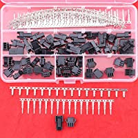 Hilitchi 240pcs(30set) 2.5mm Pitch 3-Pin JST SM Male & Female Plug Housing and Male/female Pin Header Crimp Terminals Connector Kit