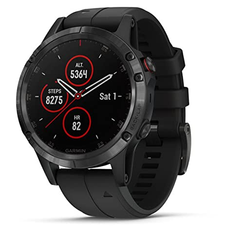 Garmin 010-01988-01 Fenix 5 Plus - Smartwatch, Color Negro: Amazon ...