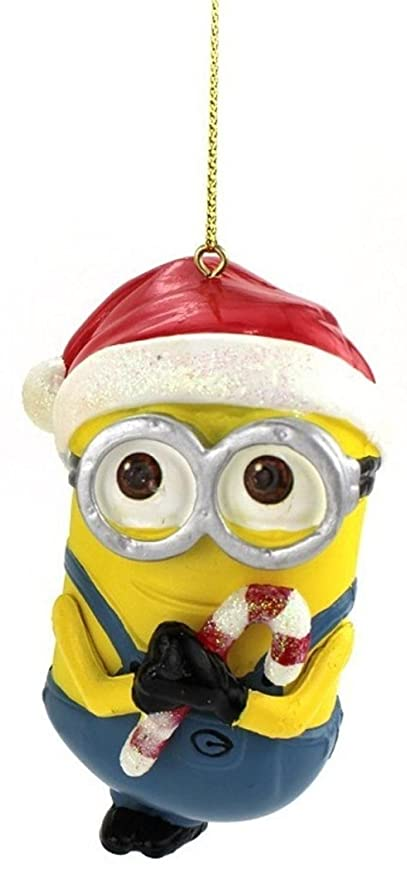 "Kurt Adler 3.5"" Despicable Me Minion Dave with Santa Hat Christmas  Ornament - Amazon.com: Kurt Adler 3.5"