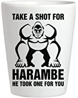 Harambe Take A Shot Glass: Ceramic Shot Glass