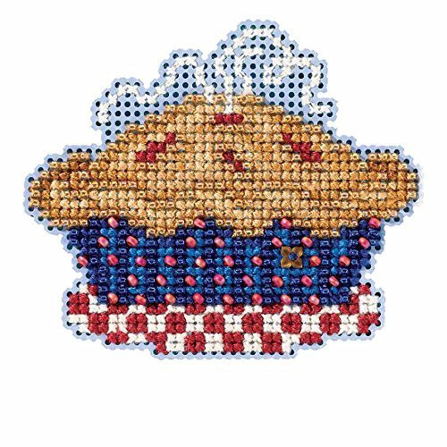 American Pie Beaded Counted Cross Stitch Ornament Kit Mill Hill 2016 Autumn Harvest (Beaded Pie)