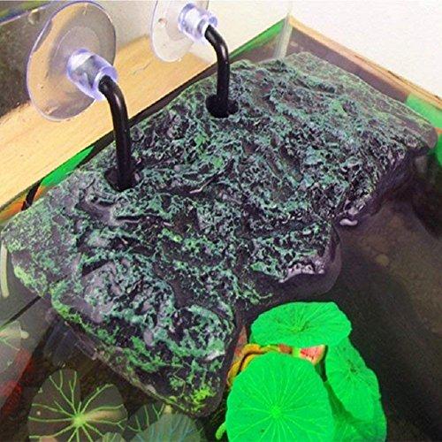 LanLan Plataforma de Tortuga, Rectangular Basking Platform Acuario, Decoración de Acuario de Animal doméstico de réptil: Amazon.es: Hogar