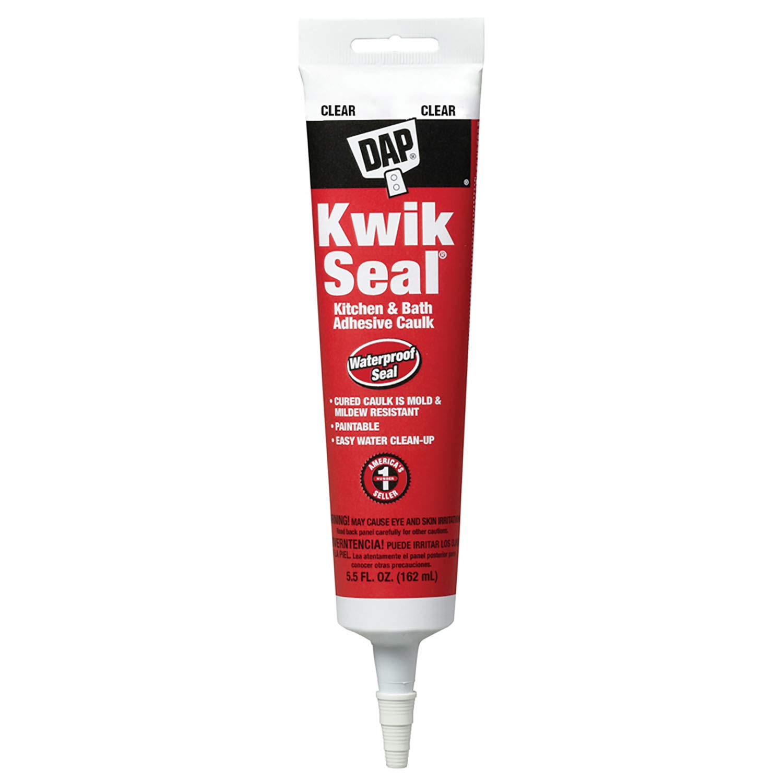 Dap 18008 Kwik Seal Caulk, 5.5-Ounce, Clear