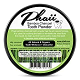 Natural Whitening Teeth & Gum Powder - Improve Mouth Hygiene, Whitens, Desensitizes, Detoxifies- Remove Toxins & Bacteria with Bamboo Activated Charcoal, Guava Leaf, Orange Peels - 100% Organic