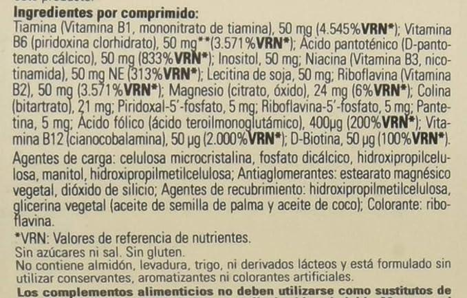 Solgar Megasorb Vitamina B-Complex Comprimidos - Envase de 50: Amazon.es: Salud y cuidado personal