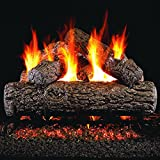 Peterson Real Fyre 18-inch Golden Oak Gas Log Set With Vented Natural Gas G4 Burner - Manual Safety Pilot