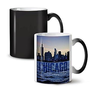 amazon com chicago town port city ship black colour changing tea