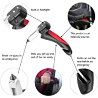 You God Car Handle Auto Handgreep Cane Handle Flashlight seat Belt Cutter Glass Breaker Mobility Standing Aid