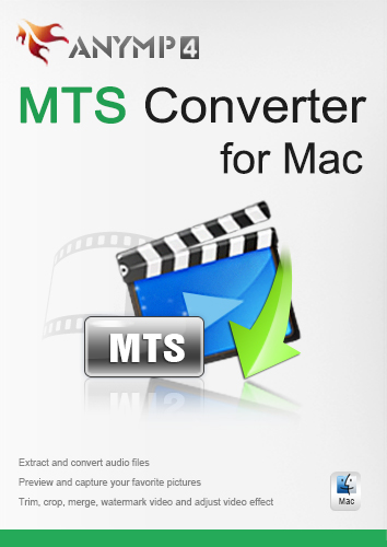 AnyMP4 MTS Converter for Mac 1 Year License - Convert MTS to any popular video/audio format like MP4/MOV/WMV/AVI/MKV/MPEG/MP3/WAV and more on Mac [Download]