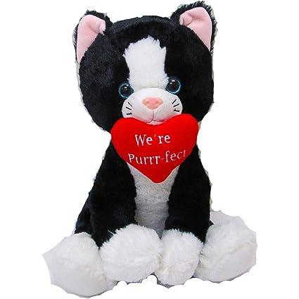 ac4b407a963 Amazon.com  HollyDel Valentine s Day Kitten Plush Toys   Games ...