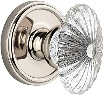 Grandeur Georgetown Rosette with Portofino Lever Polished Nickel Double Dummy