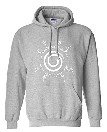 WEEKEND SHOP Hoodie Anime Sweatshirt Men Uzumaki Naruto Clothing Hip hop Mens Hoodies Grey