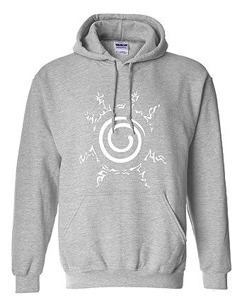 WEEKEND SHOP Hoodie Anime Sweatshirt Men Uzumaki Naruto Clothing Hip hop Mens Hoodies Grey