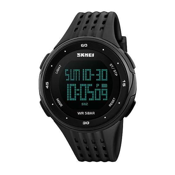 TOPCABIN LED Digital reloj de pulsera para hombres Deportes Relojes 5 ATM nadar escalada al aire libre de moda Casual hombres estudiantes relojes de pulsera ...
