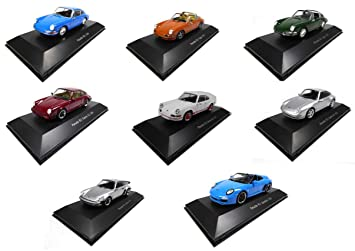 Atlas Lot of 8 Porsche 911 1/43: Carrera + Targa + Speedster +