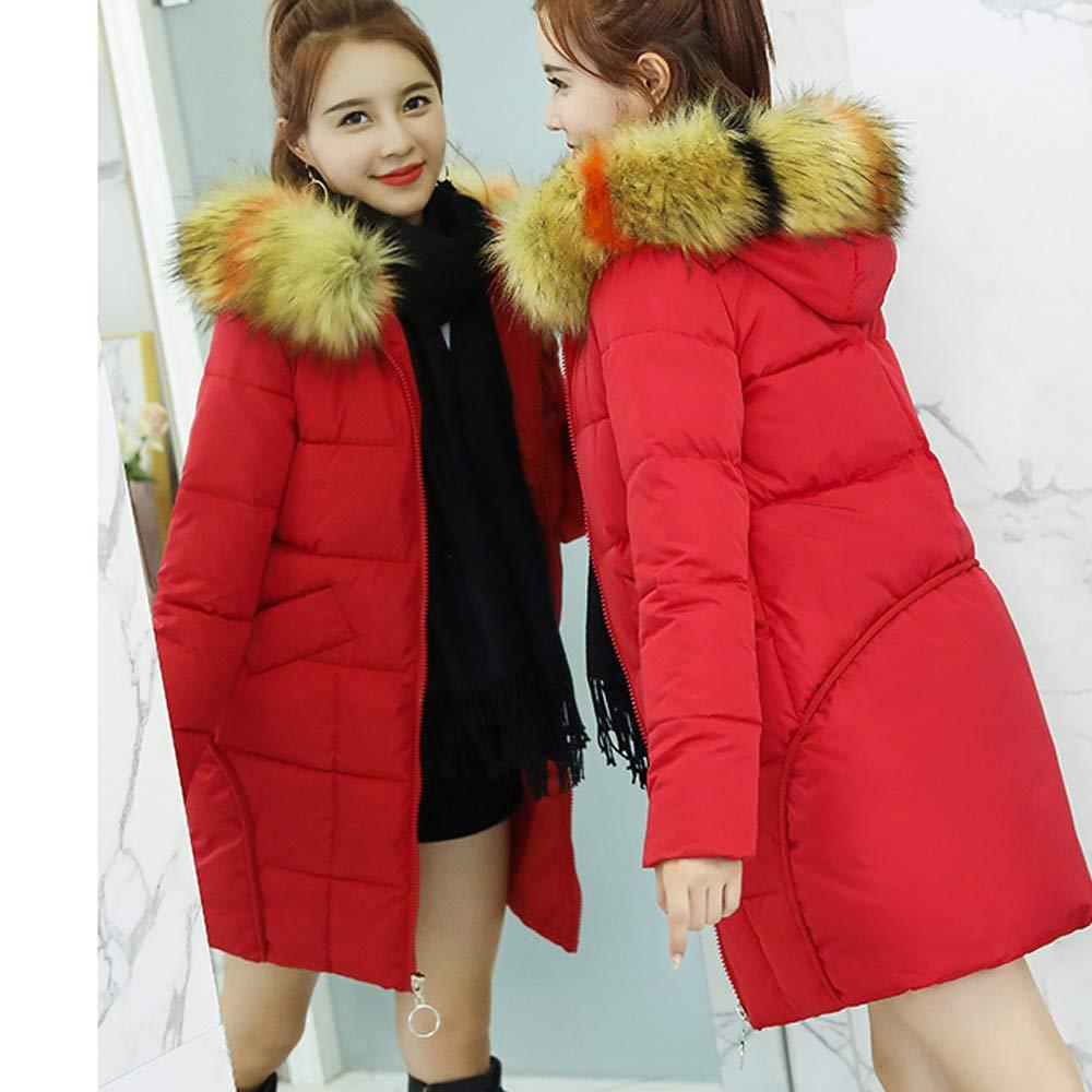 Amazon.com: DICPOLIA Women Coat,Fashion Warm Elegant Long Coats Hooded Jacket Winter Parka Outwear: Clothing