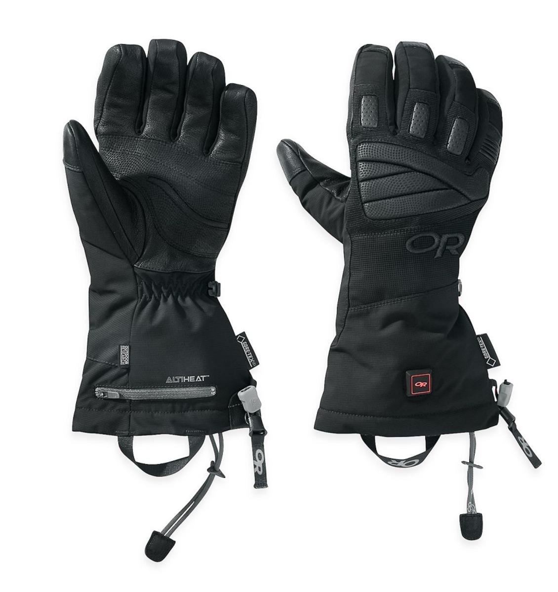 Outdoor Research Lucent Heated Gloves, Black, X-Small