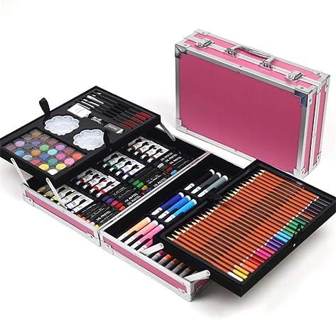 Estuche Colores Set de Arte 168 Piezas de Arte, Pintor, Acuarela, Pintura, Dibujo, Colorear, Manualidades, Maestros, Aficionados, Profesionales y Principiantes (Color : Pink): Amazon.es: Hogar